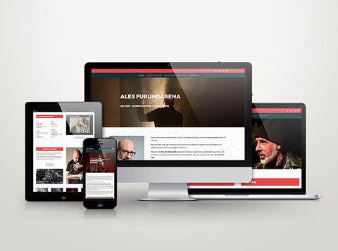 Página web de Ales Furundarena, actor
