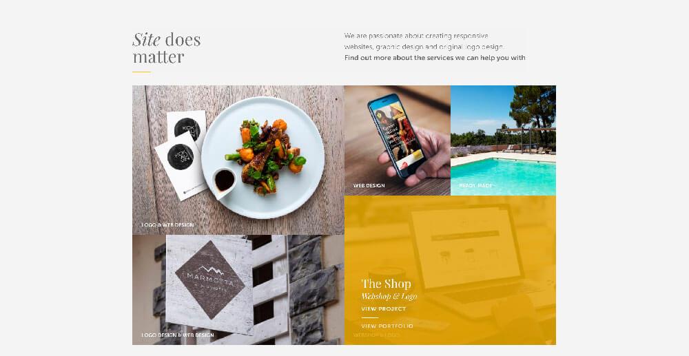 Diseño web: retículas de diferentes tamaños